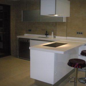 Cocina office lacado en brillo en Riba-Roja